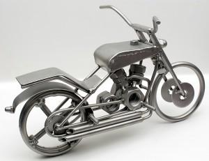 Motorrad aus Metall
